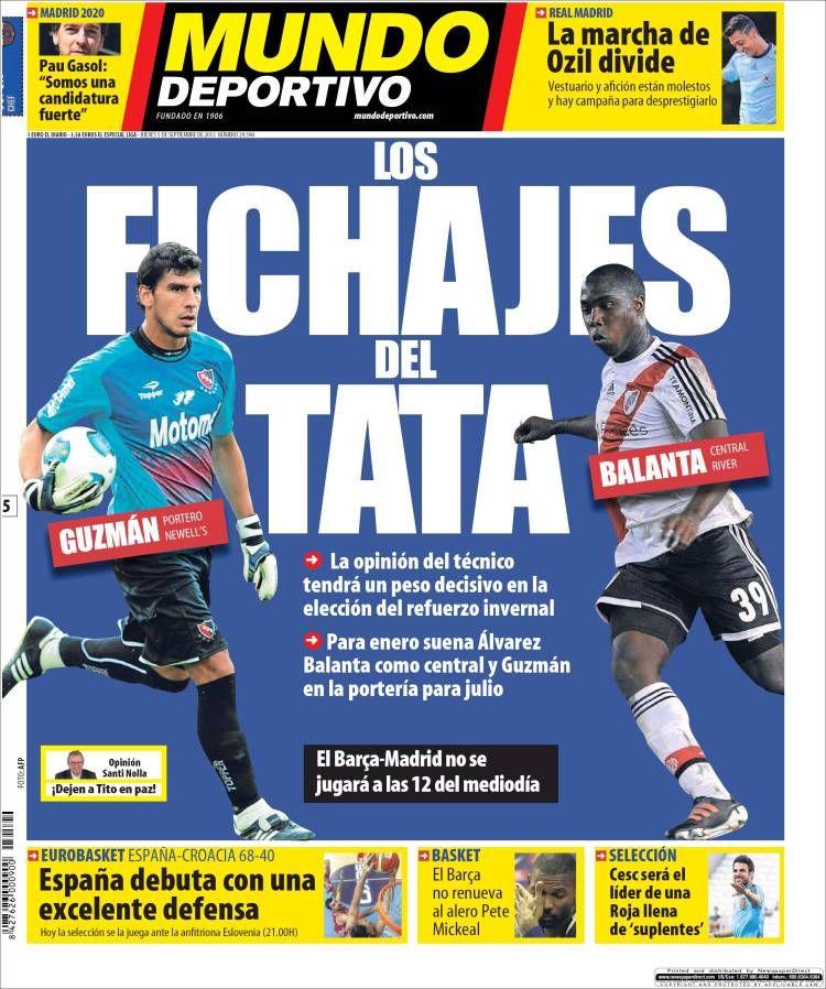 Los Titulares y Portadas de Noticias Destacadas Españolas del 5 de Septiembre de 2013 del Diario Mundo Deportivo ¿Que le pareció esta Portada de este Diario Español?