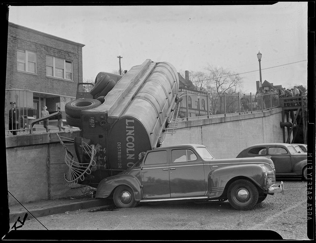 1950s: Auto accidents, Boston | Old car wrecks | Pinterest | Cars ...