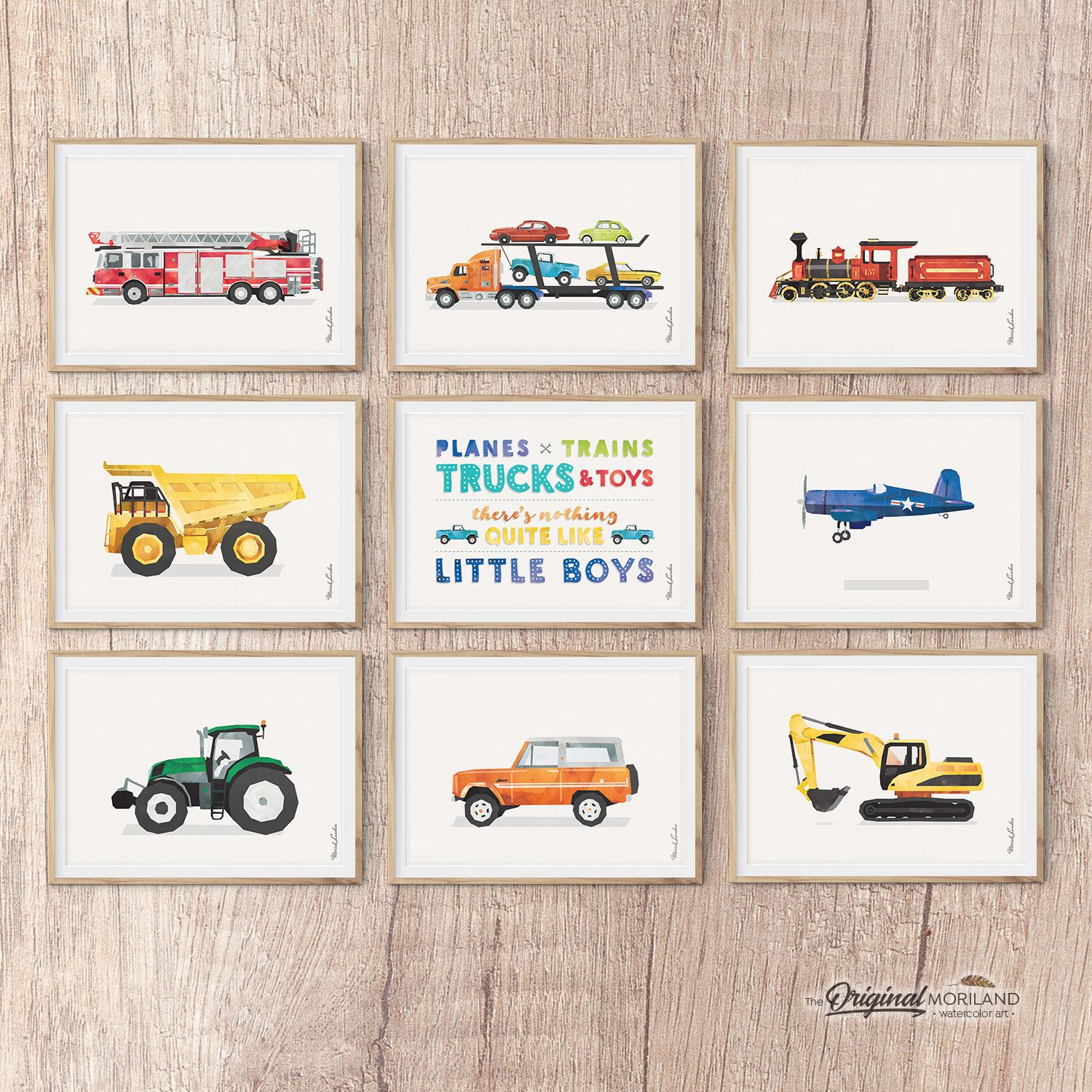 Boys Transportation Printable Set Of 9 Land3 Toddler Boy