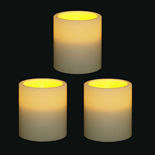 Outdoor Flameless Candles Amusing Topchancestm Indooroutdoor Flameless Resin Pillar Led Candle With Decorating Design