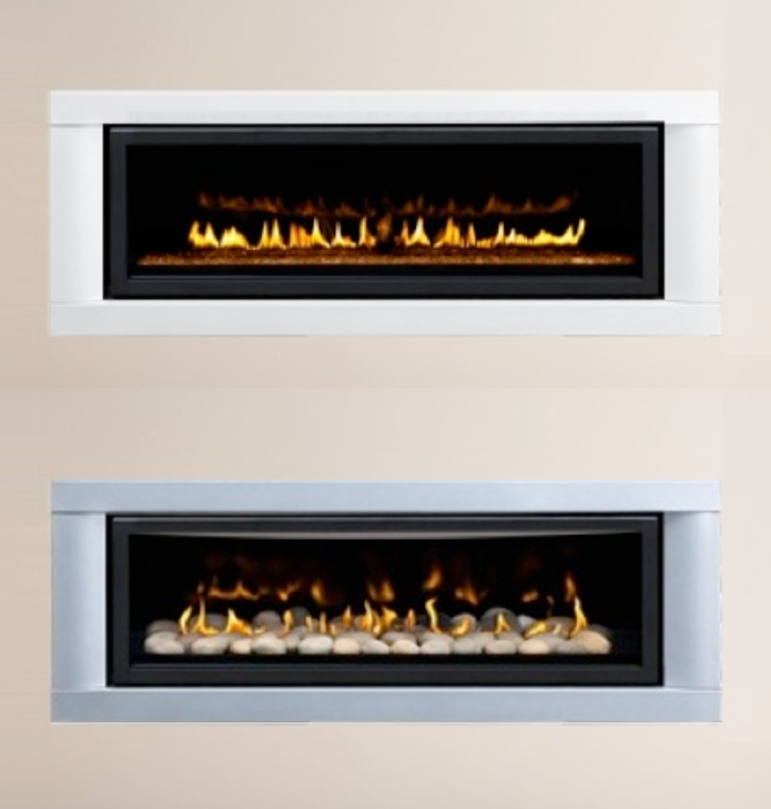 Top Lhd45 With White Surround And Red Fire Glass Bottom Lhd45