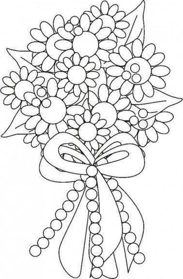 Bouquet De Fleurs Coloriage Fleur A Imprimer Et Colorier