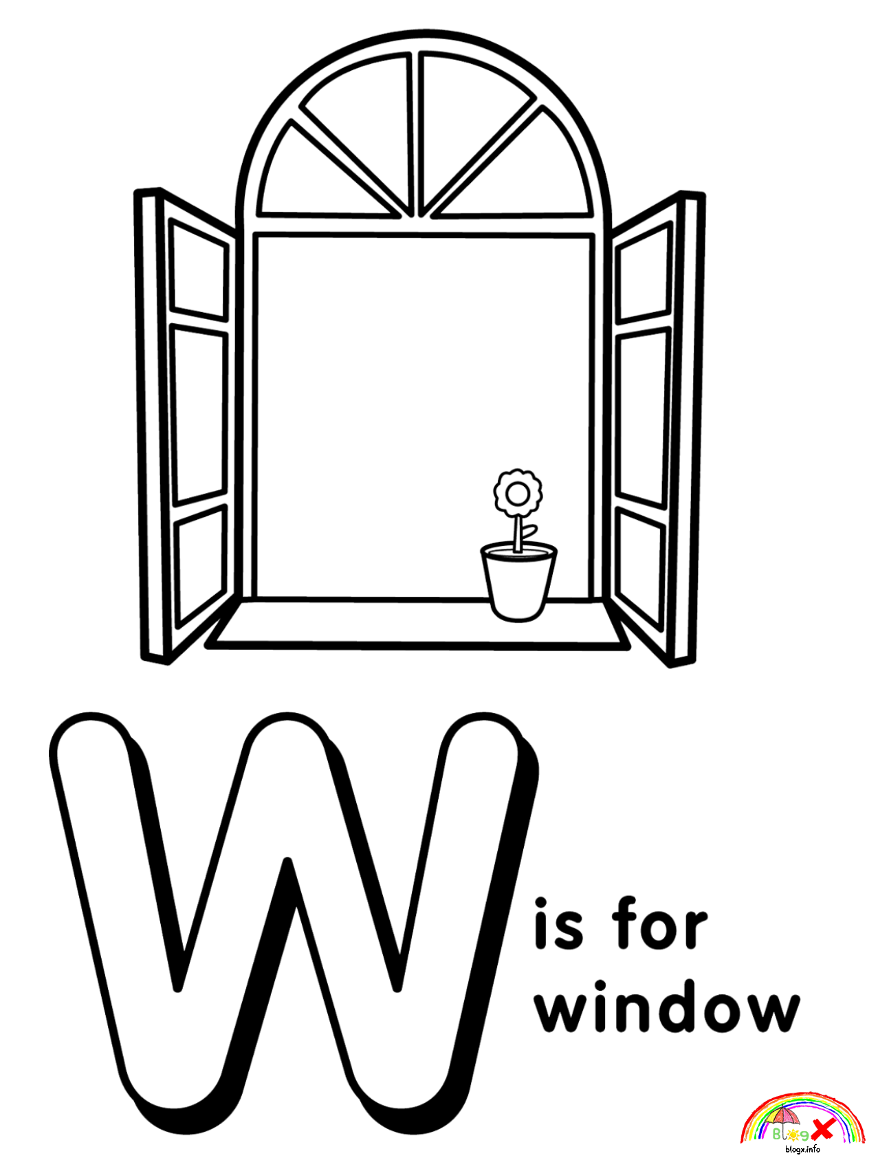 Letter W Coloring Pages Printable