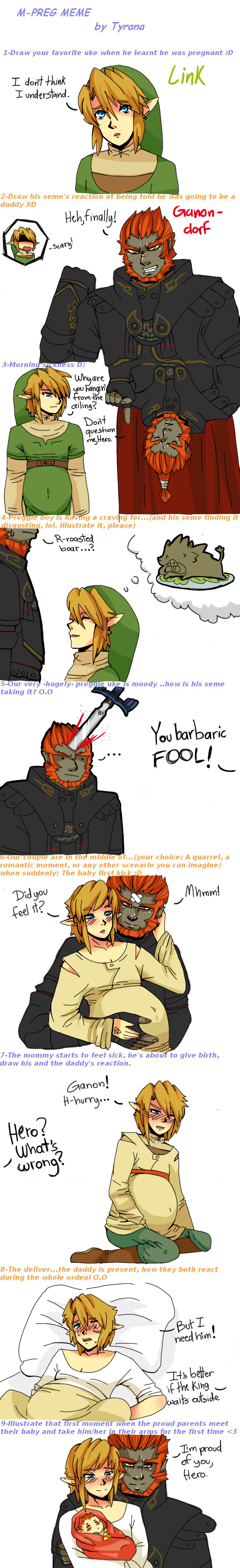 Ganondorf x Link- Mpreg meme by Ashure-Sune deviantart com
