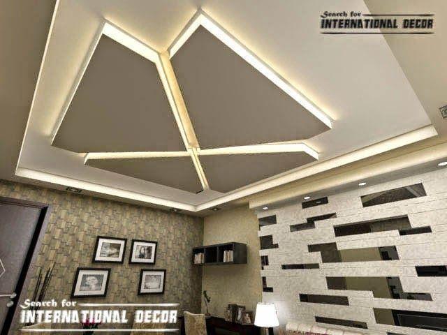 Modern Gypsum Board Ceiling For Living Room Pop Design False