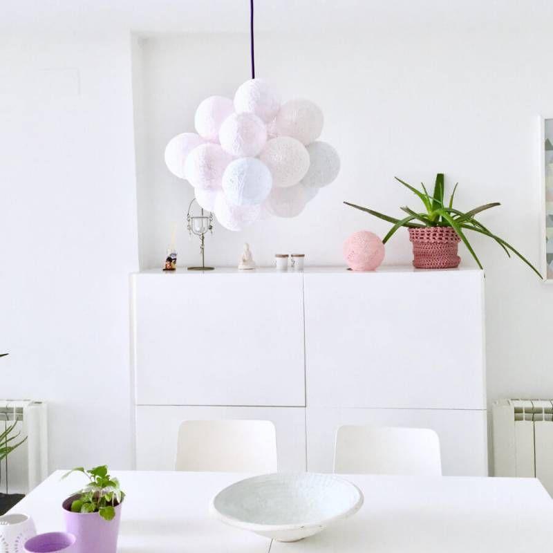 lampara mesa enchufe luz ambiente salon
