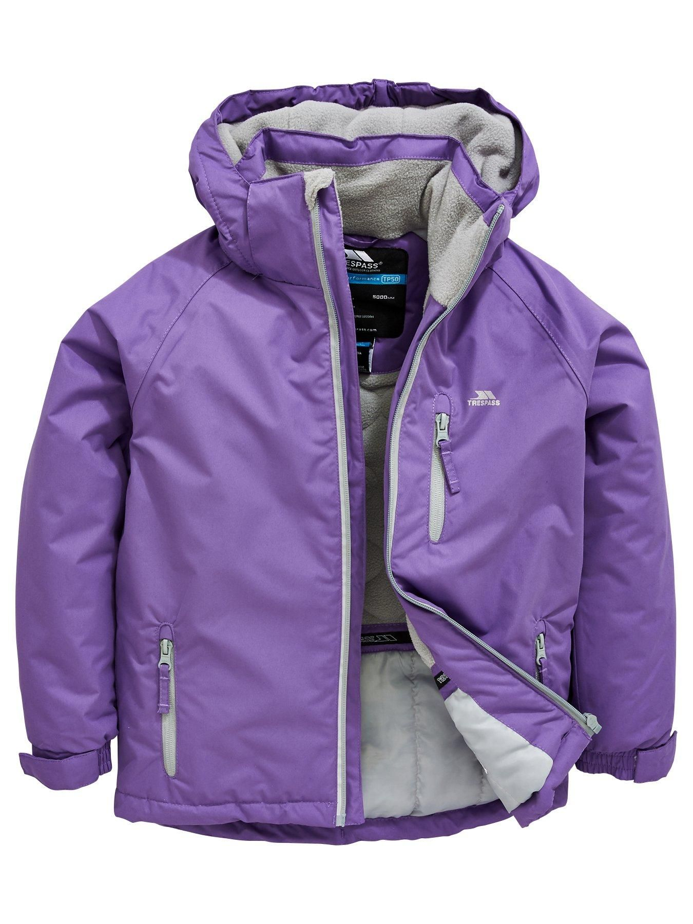 6d8270a0072 Trespass Girls Cornell II Jacket - Purple | Clothes for the girls ...