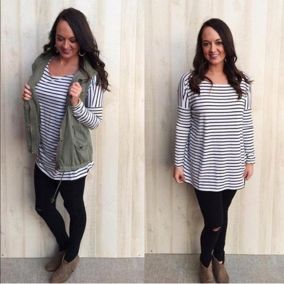 ✨Restock, coming soon✨ Striped Piko Girls, if you don't own a Piko top, you're missing out. We love the oversize fit and the comfort of these shirts! Not only are they the perfect fall layering piece, but they're perfect just by themselves.  Oversize fit Made of Bamboo Spandex Material. Customer Favorite Model is usually a size small and is wearing a small. ✨these just restocked and always SALE fast✨ No Trades. ✨Price firm unless bundled!    Price will be $30, like for notification when they…