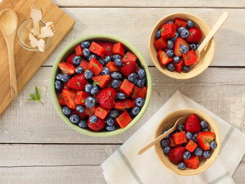 Strawberry and Blueberry Watermelon Mint Salad | Driscoll's