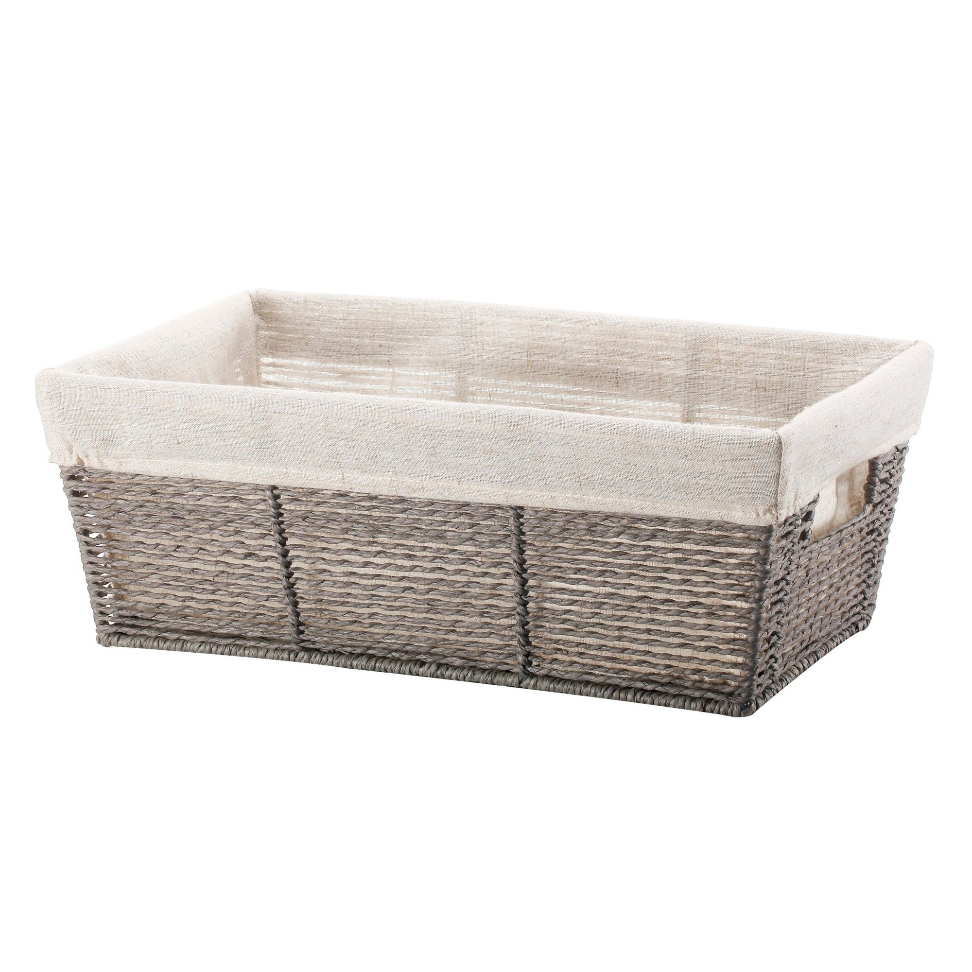 Twisted Paper Rope Media Basket Gray Threshold