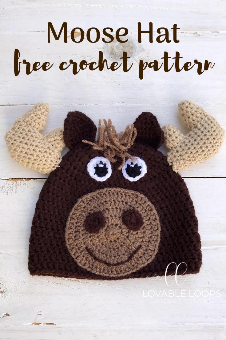 Free Moose Hat Crochet Pattern Needlework Pinterest Crochet