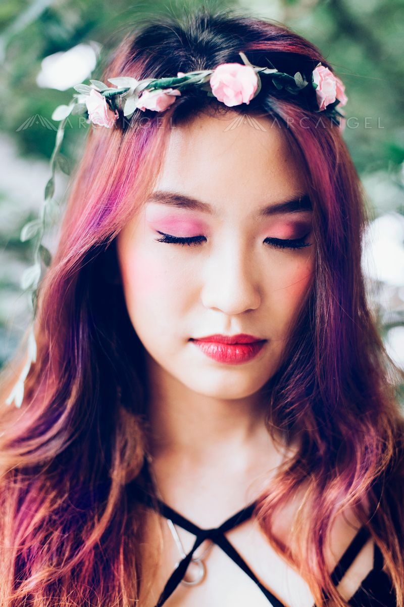 beautiful chinese princess in flower crown