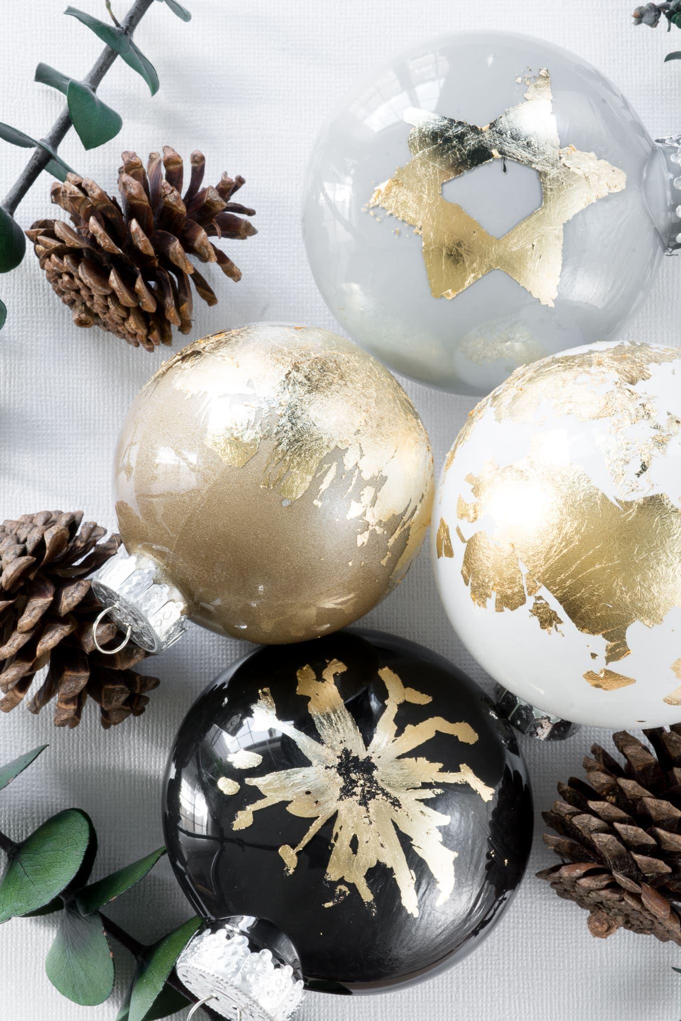 diy gold leaf ornaments christmas christmasornaments diy crafts goldleaf gold leaf diy leaf ornament gold diy diy gold leaf ornaments christmas