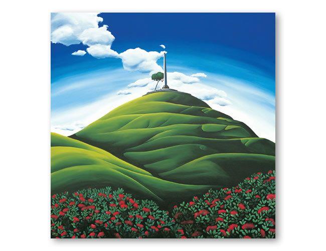 One Tree Hill. Diana Adams, NZ Artist.