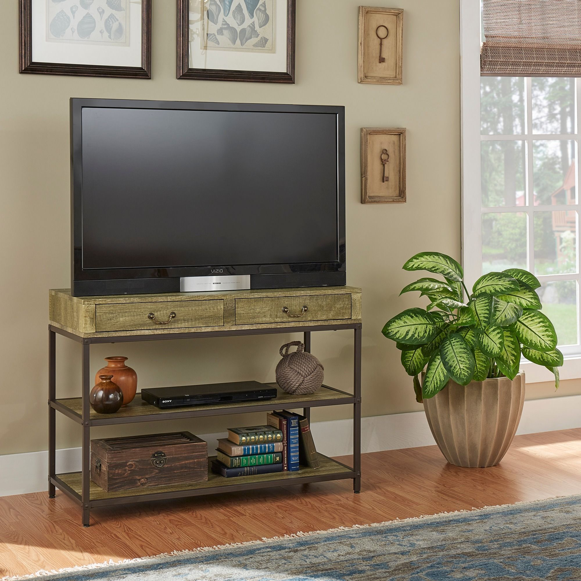 Sadie Industrial Rustic Media Console / Entryway table by iNSPIRE Q Classic  (Media Console)