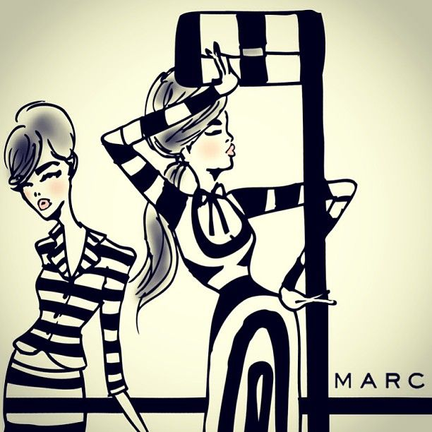Marc Jacobs SS13 illustration.