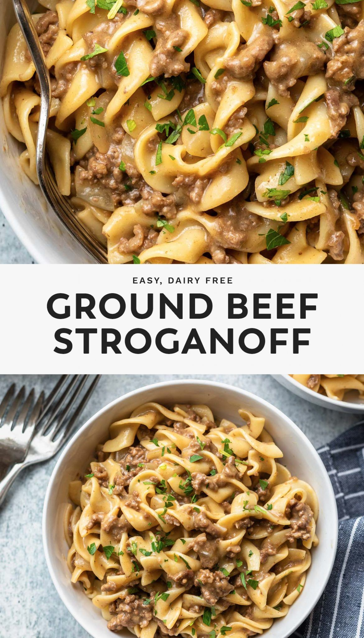 Ground Beef Stroganoff Recipe In 2020 Ground Beef Stroganoff Ground Beef Recipes For Dinner Ground Beef Paleo Recipes