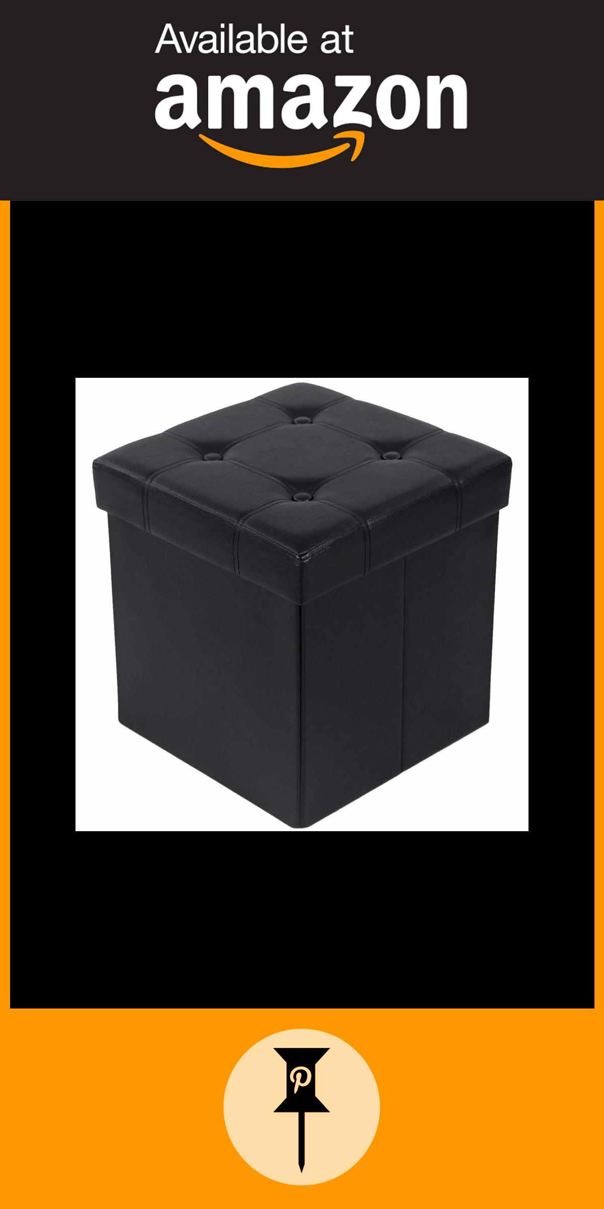 Songmics Tabouret Pouf Coffre Boîte de Rangement Repose-Pied Cube Siège  Pliable Gagner de l dc3f85b045a2