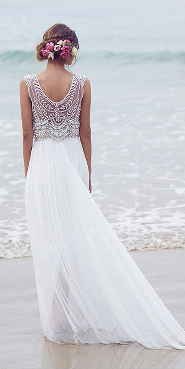 Light Beach Wedding Dresses Inspirations 2017
