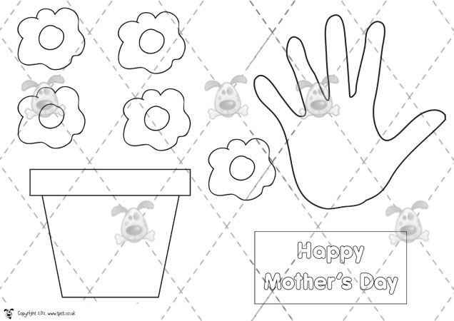 MotherS Day Activities  MotherS Day Plant Pot Card  Premium