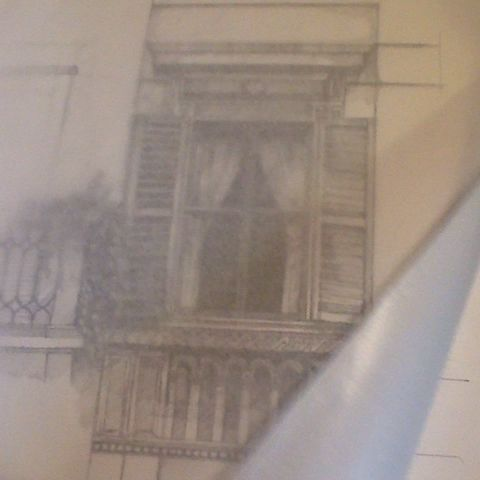 drawings by Mari Mochizuki / windows of Rome  ©Mari Mochizuki