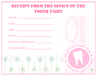 At Number 25: 1st Tooth Fairy Visit