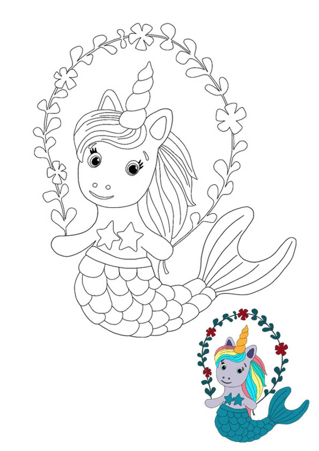 Unicorn Mermaid Coloring Pages  Unicorn coloring pages, Elephant