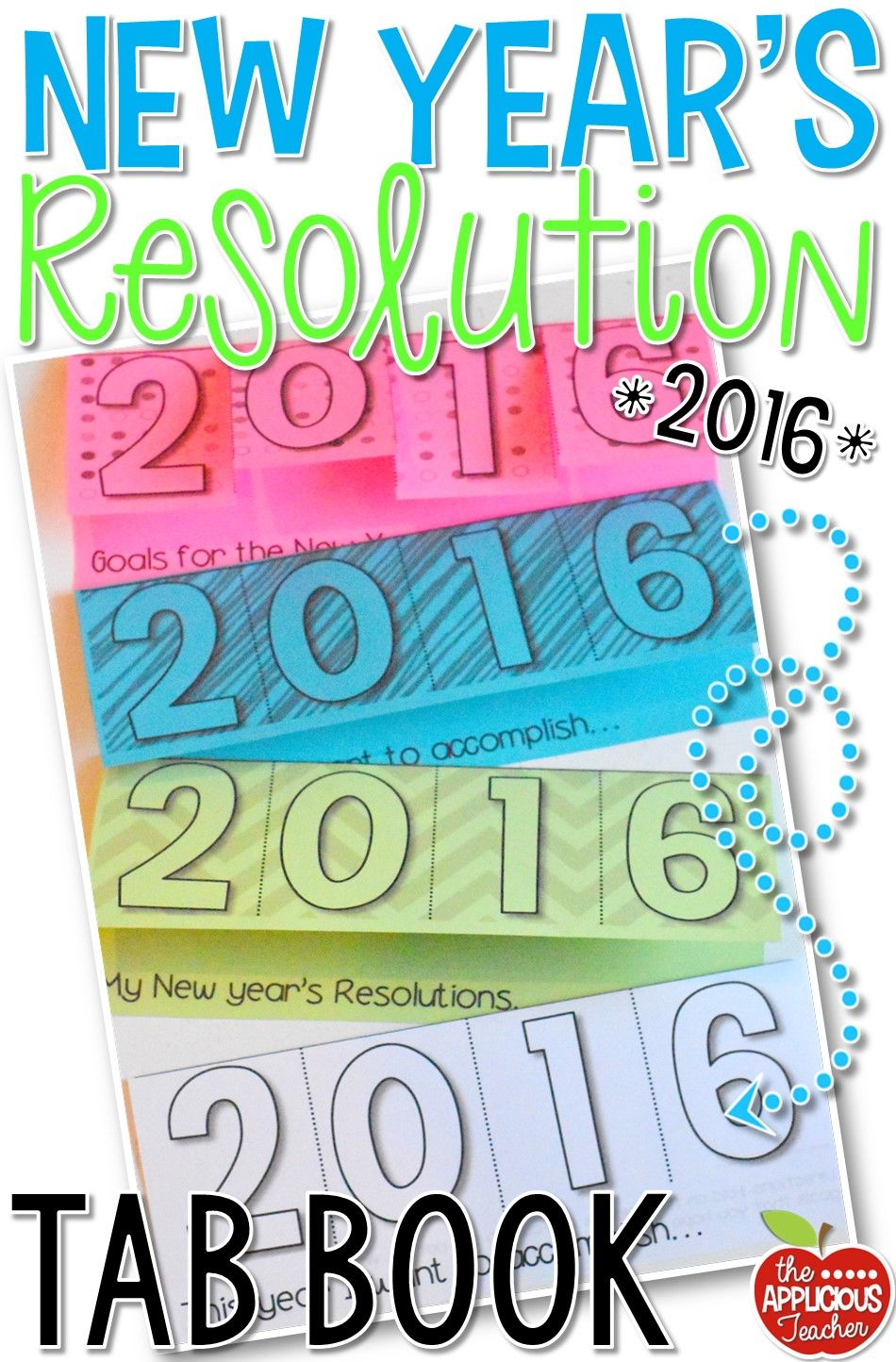 New Year's Resolution Tab Book Student writing, New