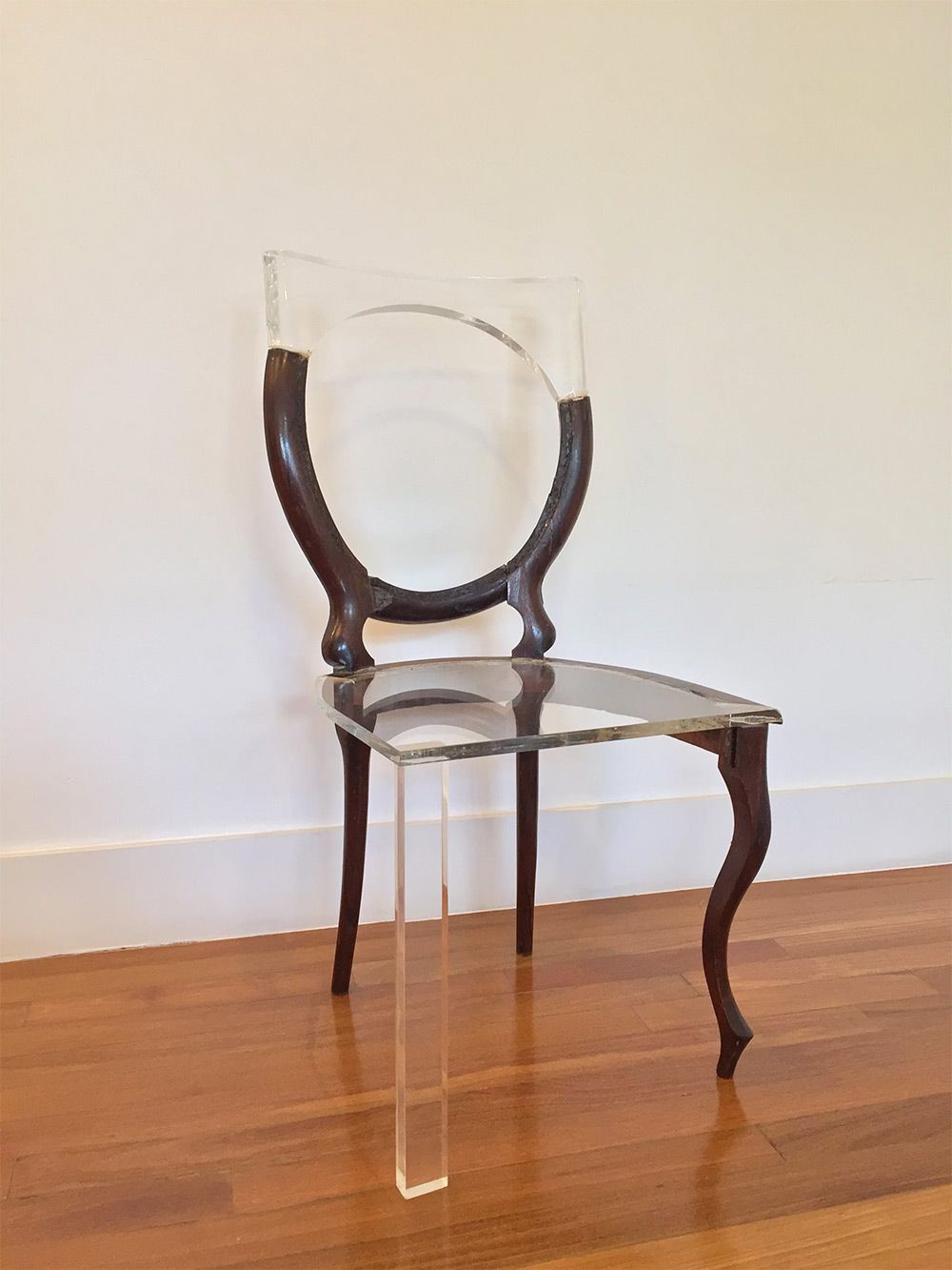 My New Old Chair Artist Fixes Broken Wood Furniture With Opposing Materials Resin Furniture Old Chair Patio Furniture Cleaner