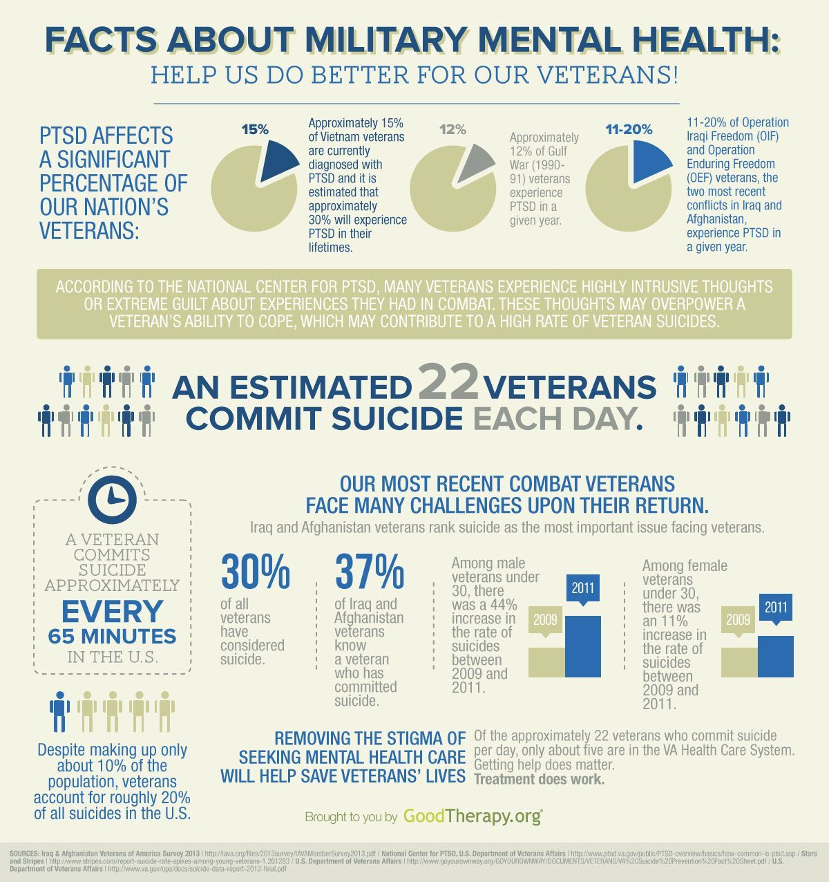 Military and Veteran Mental Health Infographic