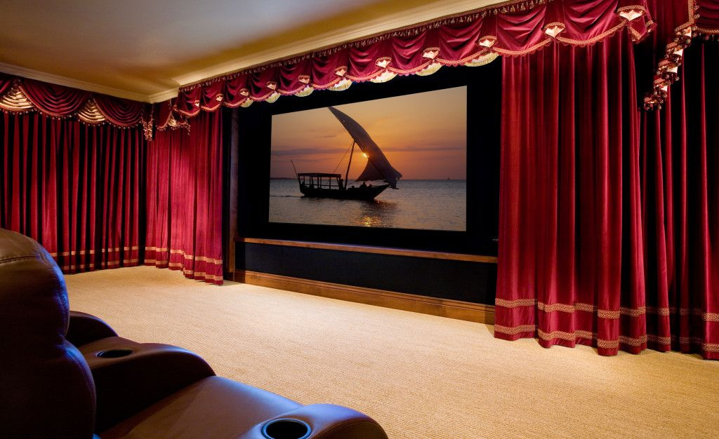 Home Drapes Marc Pridmore Designs Custom Home Theater Drapes Roman Shades .
