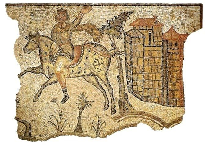 Resultado de imagen de jinete vandalo mosaico