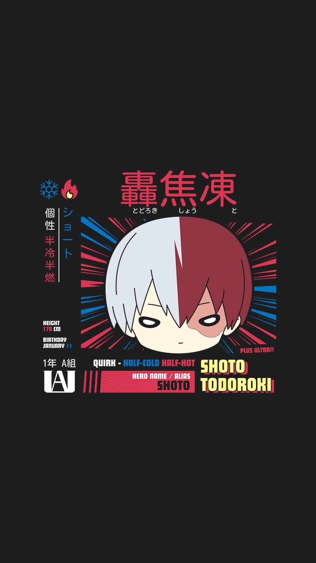 Shoto Todoroki Wallpaper Shoto Hero Wallpaper Anime Wallpaper Chibi Wallpaper
