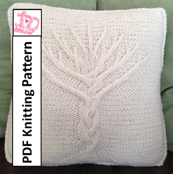Tree Of Life Knit Pattern Tree Of Life Pillow Cover Knitting