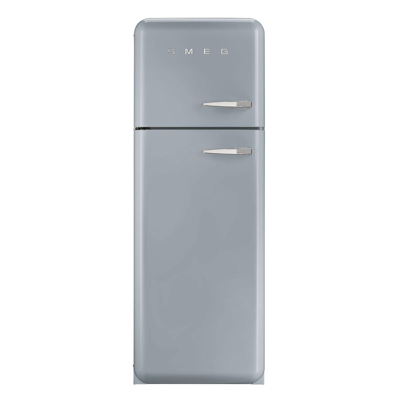Smeg FAB30LFS 50\'s Retro Style Silver Fridge Freezer