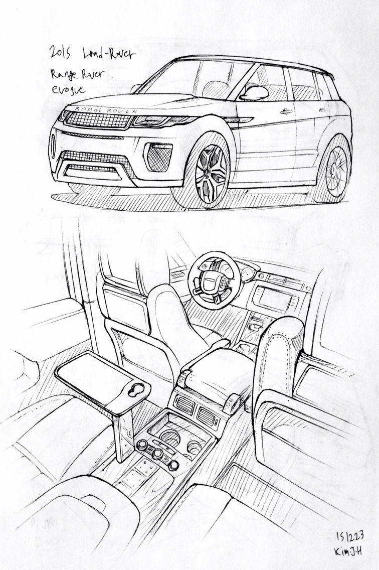 Car drawing 151223 2015 Land-Rover Range rover Evoque. Prisma on ...