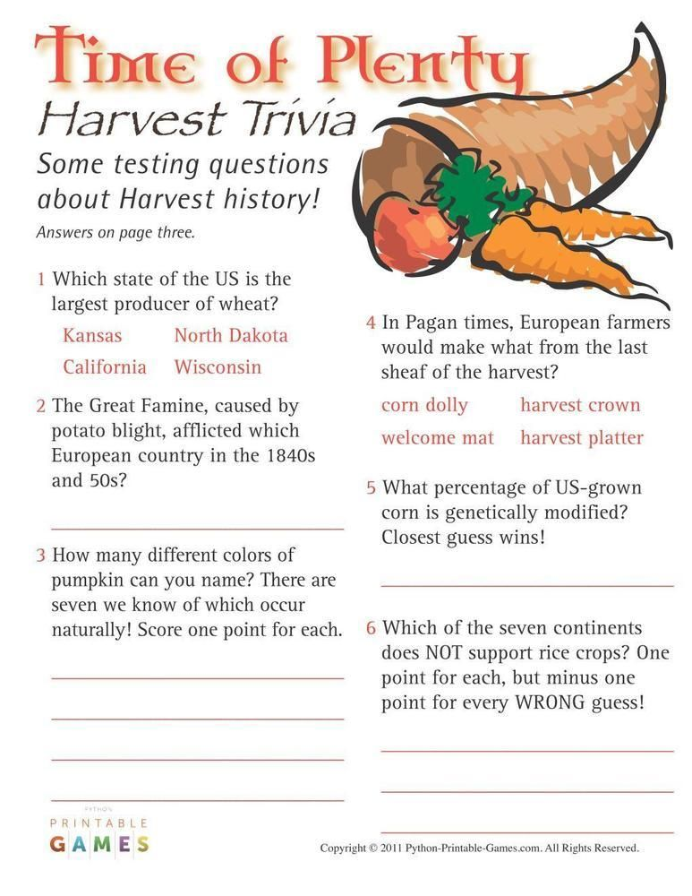 graphic relating to Autumn Trivia for Seniors Printable named Tumble Harvest: Season of A lot Harvest Trivia, $6.95 Slide