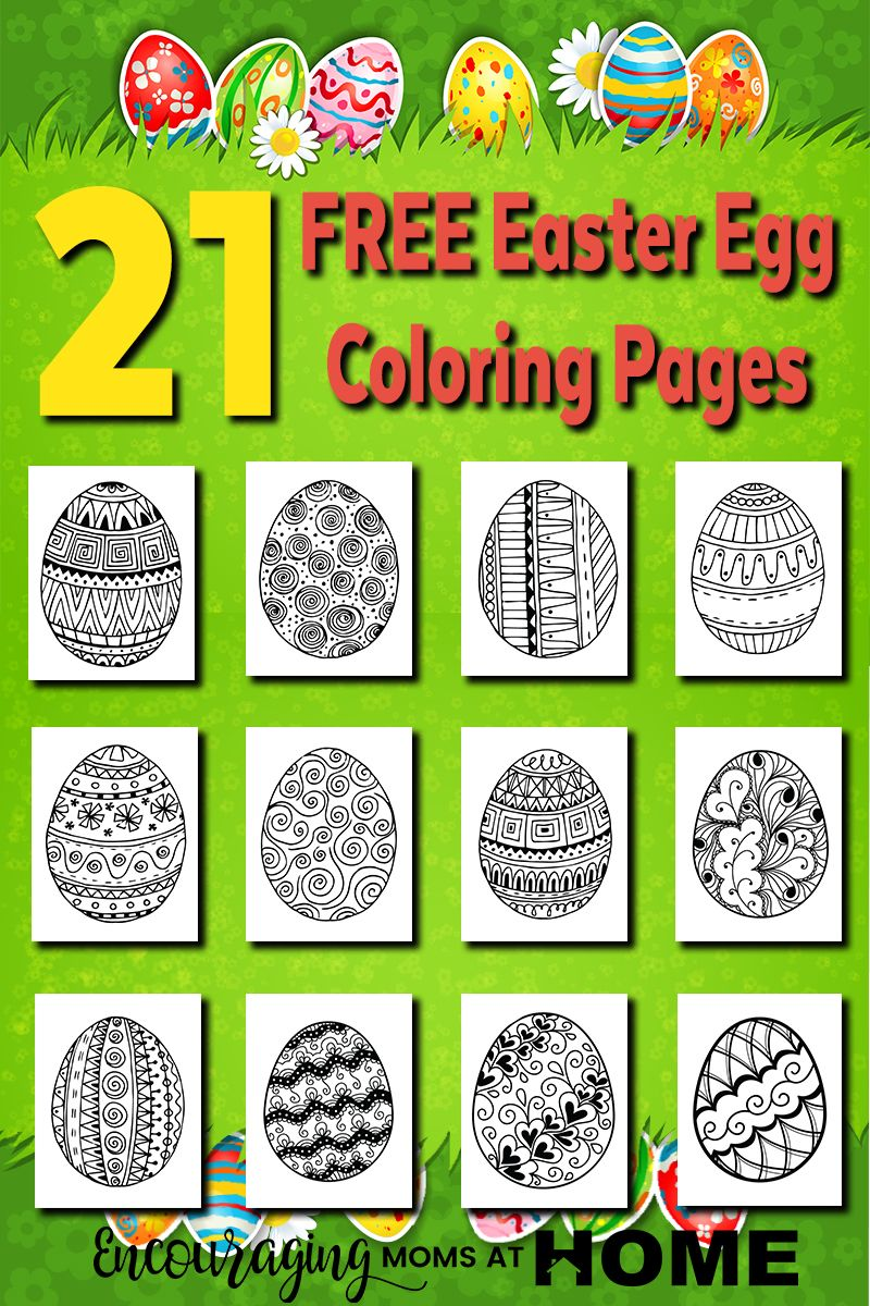 Free Printables: 21 Easter Egg Coloring Pages | Pinterest | Easter ...