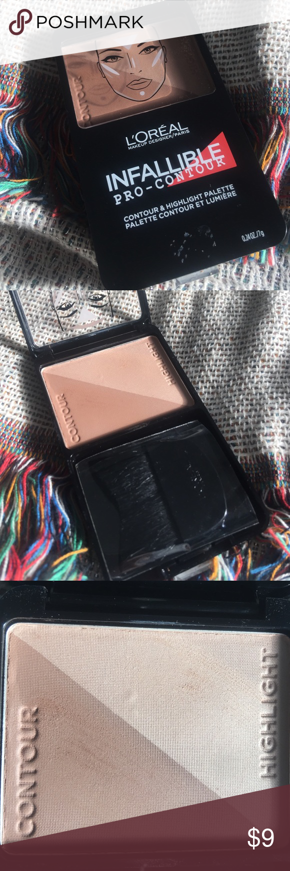 L'Oreal Infallible Pro-Contour Palette in Med 814 NEVER USED comes with brush. Color: Medium 814 L'Oreal Makeup Bronzer