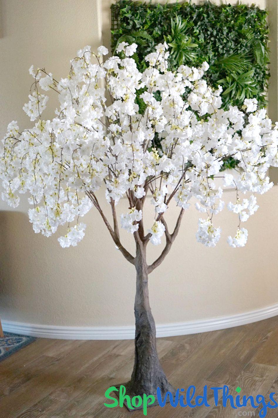 Flowering Cherry Blossom Tree Extra Full 6 Tall White Blossom Trees Flower Wall Decor Cherry Blossom Tree