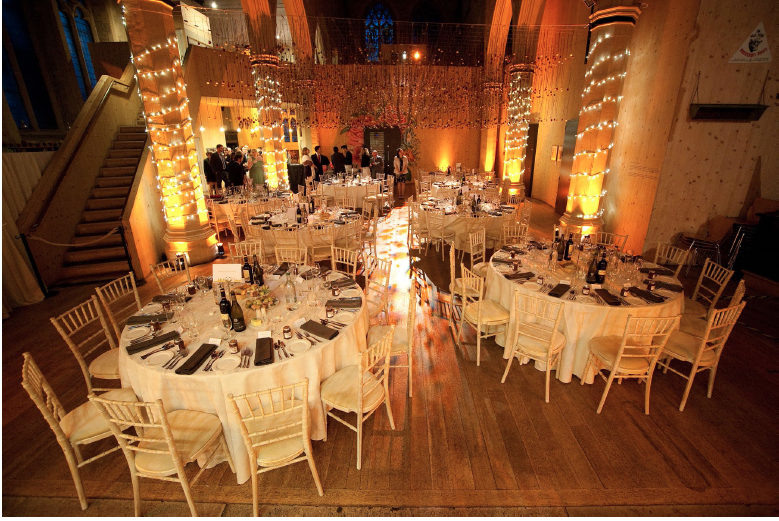 Garden Museum, housed in a deconsecrated church, is a wedding venue across the Thames from the Houses of Parliament. Capacity: up to 200 guests. From £3,200