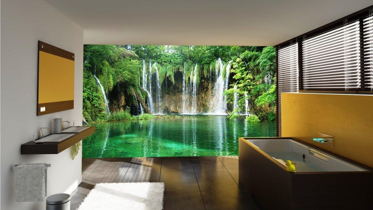 Beautiful Wall Mural Designs For Your Bathroom Youtube Bedroom Murals Aesthetic Rilane Aspiring Walls Quality Wallpaper And Wall Murals Animal Print Chic Mode Modernes Badezimmerdesign Fototapete Schlafzimmer Tropisches Badezimmer