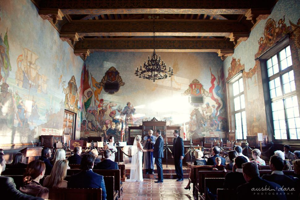 Santa Barbara Courthouse Mural Room Not The Top Of My List But Still A Wedding Officiantcity Hall
