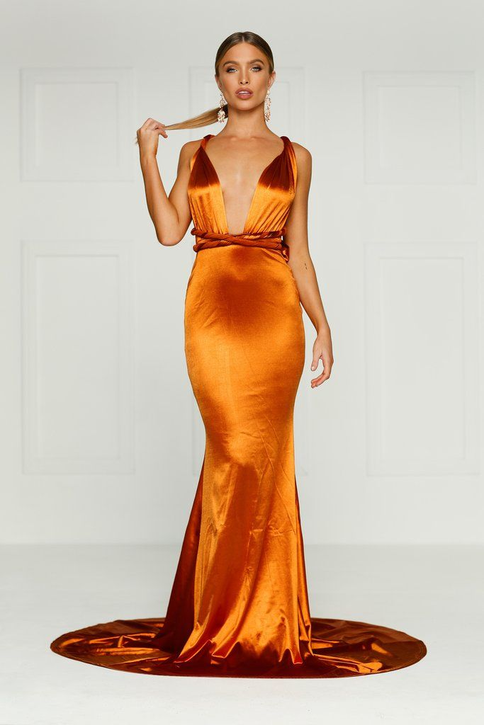 00e57eb24fa Lena Multiway Gown - Golden Rust Preorder