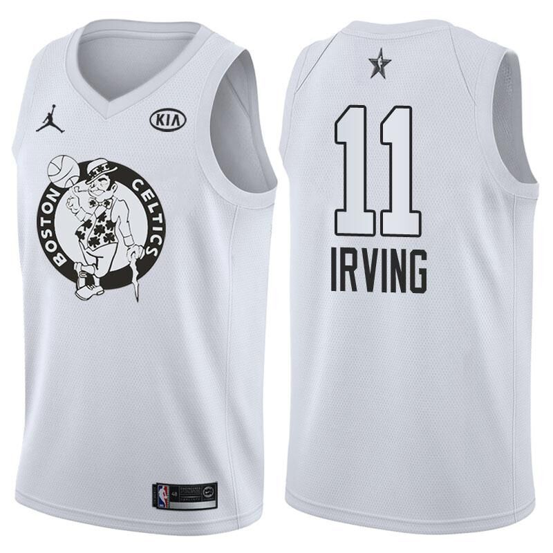 999451fb97c2 2018 All Star Game jersey  11 Kyrie Irving White jersey