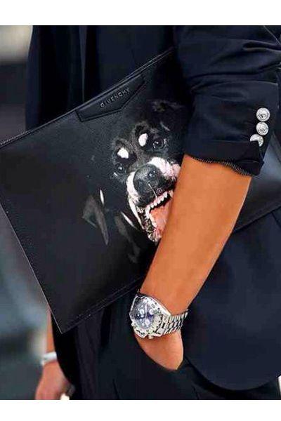 f53b113027 Antigona rottweiler Coated Canvas Clutch Harvey Nichols | spoil me ...