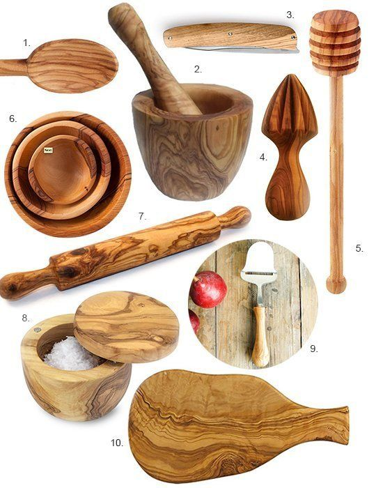 all things olive wood for the kitchen kitchen accessories rh pinterest com
