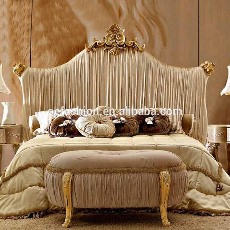 New Classic High Back White Fabric King Bed Luxury Fabric Wedding Bed View Wood Double Bed De New Classic Furniture Double Bed Designs Classic Bedroom Design