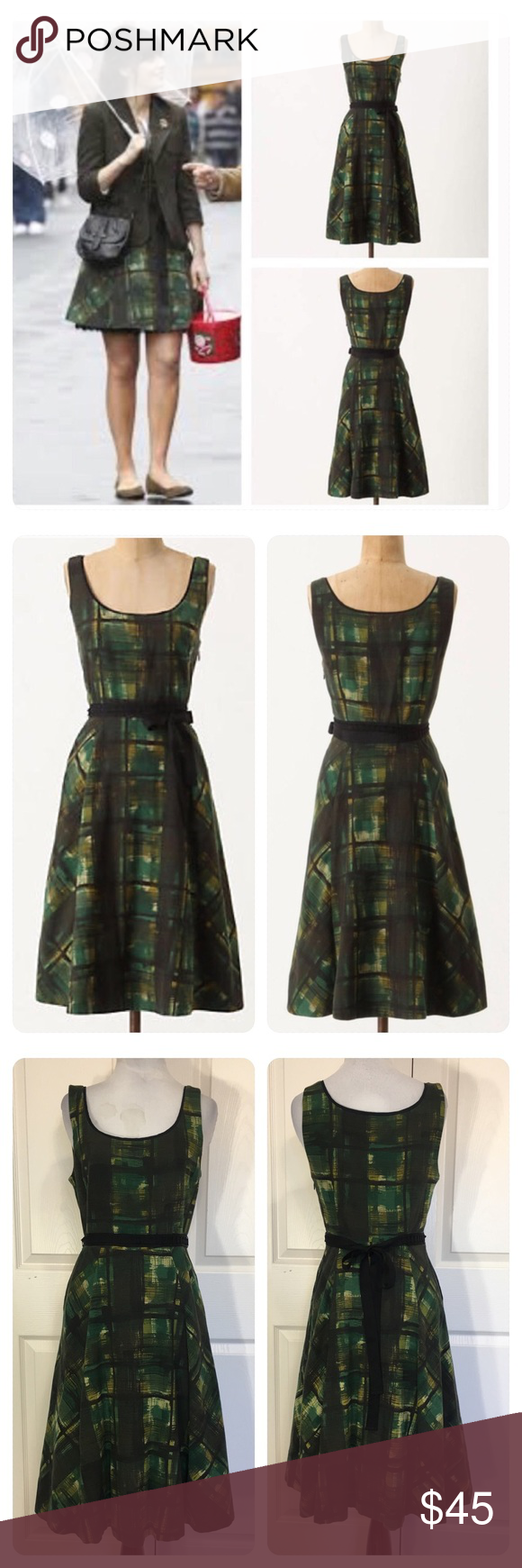 23dc4e21a3cc Anthropologie Painted Plaid Dress by Maeve Anthropologie Painted Plaid Dress  by Maeve As seen on New Girl's, Zooey Deschanel! This muted tartan frock,  ...