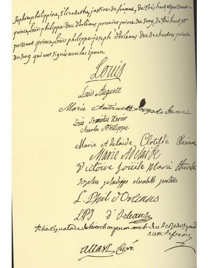 acte de mariage du dauphin louis futur louis xvi et de l archiduchesse marie antoinette le 16. Black Bedroom Furniture Sets. Home Design Ideas